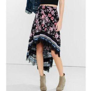 Express Hi-Low Maxi Skirt M